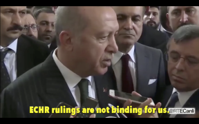 Erdogan says ECHR decision not binding for Turkey 24