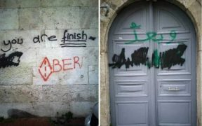 Armenian church in İstanbul vandalized with threatening messages 26