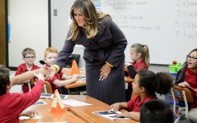 The first lady watched school kids coloring in Tulsa. The Turks saw links to terrorism 21