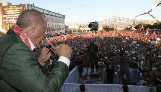 Turkish president is playing with fire:  Erdogan is just the other side of the coin of demagoguery. 68