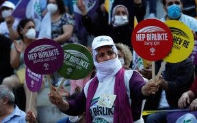 Under pressure, pro-Kurdish party holds democracy rally in Istanbul 22