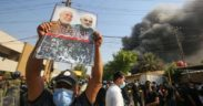 Hashed al-Shaabi members torch Kurdish party offices in Baghdad 11