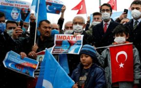 Uighur Muslims protest in Turkey as Chinese foreign minister visits 22