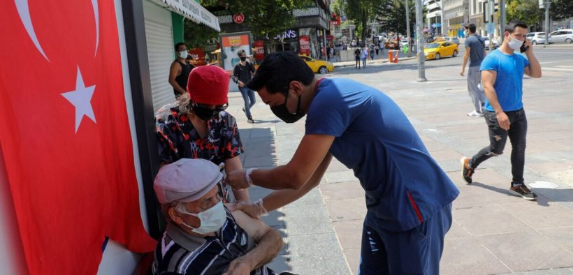 Turkey records highest daily virus toll since mid-May